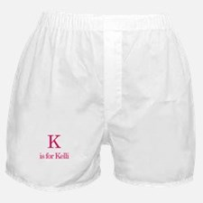 K is for Kelli Boxer Shorts