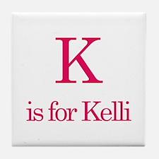 K is for Kelli Tile Coaster