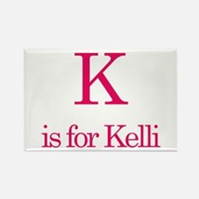 K is for Kelli Rectangle Magnet