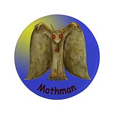 "Mothman in the Moonlight 3.5"" Button"