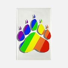 RAINBOW BEAR PAW--SHADOW Rectangle Magnet