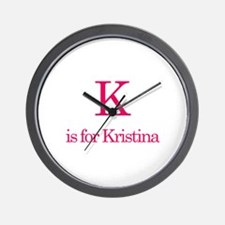 K is for Kristina Wall Clock