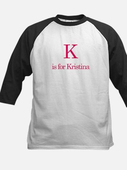 K is for Kristina Kids Baseball Jersey