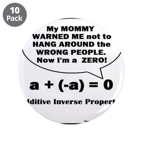 """CHARACTERS - MOMMY WARNED ME 3.5"""" Button (10 pack"""