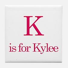 K is for Kylee Tile Coaster