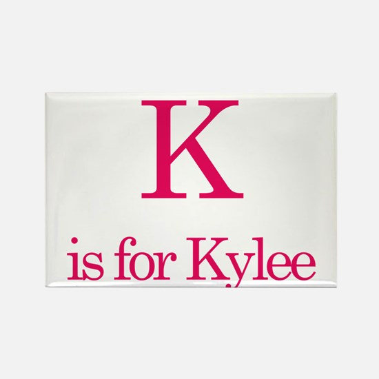 K is for Kylee Rectangle Magnet