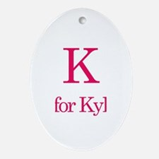 K is for Kylee Oval Ornament