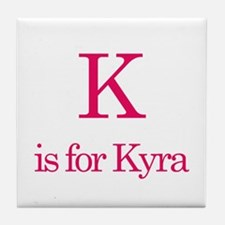 K is for Kyra Tile Coaster