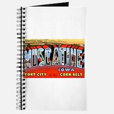 Muscatine Iowa Greetings Journal