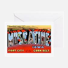 Muscatine Iowa Greetings Greeting Card