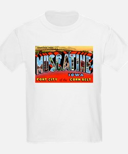 Muscatine Iowa Greetings (Front) T-Shirt