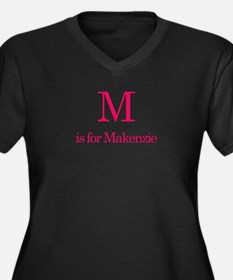 M is for Marcia Women's Plus Size V-Neck Dark T-Sh