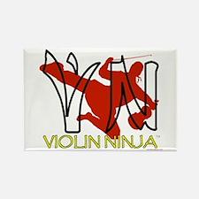 Violin Ninja Rectangle Magnet