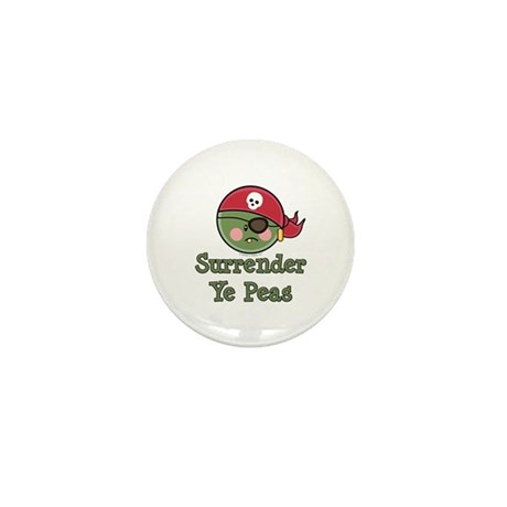 Surrender Ye Peas Pirate Mini Button (10 pack)