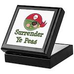 Surrender Ye Peas Pirate Keepsake Box
