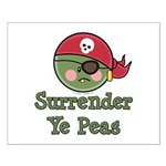 Surrender Ye Peas Pirate Small Poster