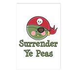Surrender Ye Peas Pirate Postcards (Package of 8)