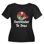 Surrender Ye Peas Pirate Women's Plus Size Scoop N