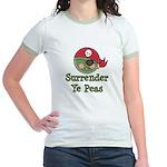 Surrender Ye Peas Pirate Jr. Ringer T-Shirt