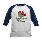 Surrender Ye Peas Pirate Kids Baseball Jersey