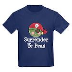 Surrender Ye Peas Pirate Kids Dark T-Shirt