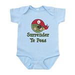 Surrender Ye Peas Pirate Infant Bodysuit