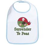 Surrender Ye Peas Pirate Bib