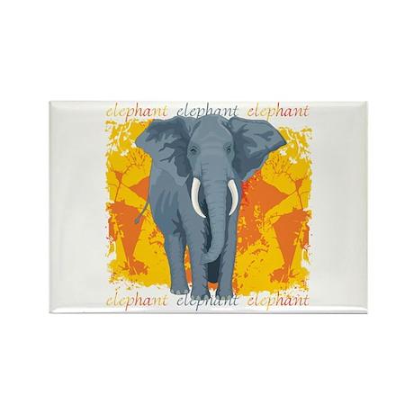 Elephant Grunge Rectangle Magnet