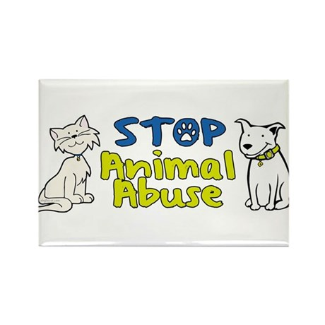 Stop Animal Abuse Rectangle Magnet (100 pack)