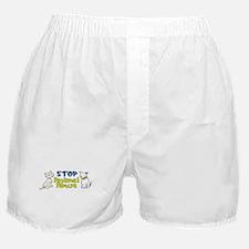 Stop Animal Abuse Boxer Shorts