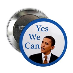 Yes We Can Barack Obama Campaign Button