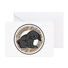 Black Rabbit Greeting Cards (Pk of 10)