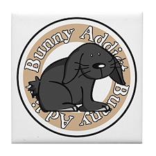 Black Rabbit Tile Coaster
