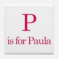 P is for Paula Tile Coaster