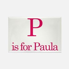 P is for Paula Rectangle Magnet