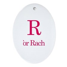 R is for Rachael Oval Ornament