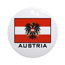 Flag of Austria Ornament (Round)