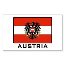 Flag of Austria Rectangle Decal
