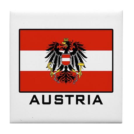 Flag of Austria Tile Coaster