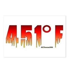 451 Degrees Fahrenheit Postcards (Package of 8)