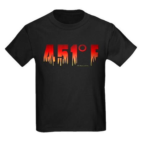 451 Degrees Fahrenheit Kids Dark T-Shirt