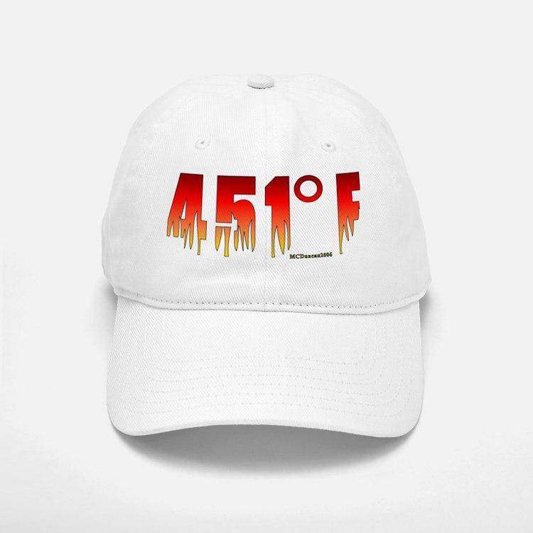 451 Degrees Fahrenheit Baseball Baseball Cap