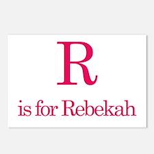R is for Rebekah Postcards (Package of 8)