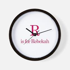 R is for Rebekah Wall Clock