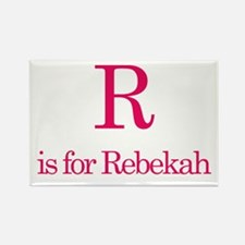 R is for Rebekah Rectangle Magnet