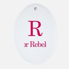 R is for Rebekah Oval Ornament