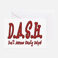 DASH Insanity Greeting Cards (Pk of 10)