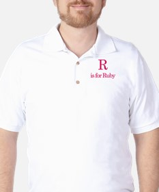 R is for Ruby Golf Shirt