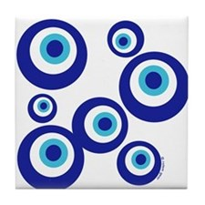 Mod Evil Eyes Tile Coaster