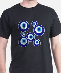 Mod Evil Eyes Black T-Shirt